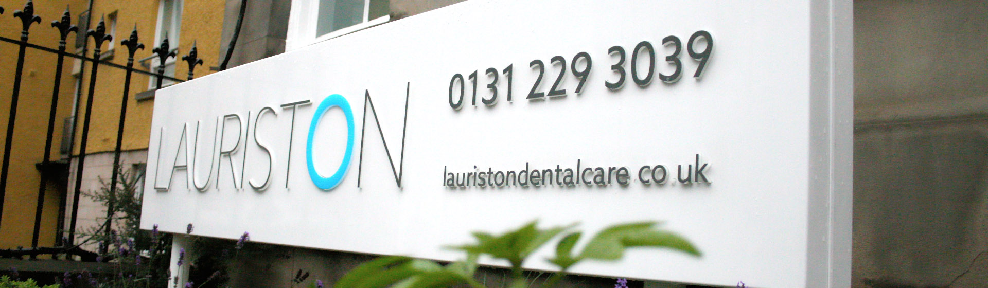 lauriston-dental-care-sign-front